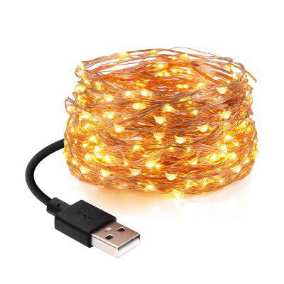 MAGOTAN 5V 5M 50 Light USB nabíjačka LED Light Copper
