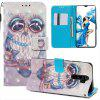 Butterfly 3D Painted PU Phone Case for Xiaomi Redmi Note 8 Pro - MULTI-C