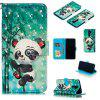 Panda 3D Painted PU Phone Case for Xiaomi Redmi Note 8 Pro - MULTI-A