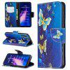 Golden Butterfly Painted PU Phone Case for Xiaomi Redmi Note 8 - MULTI-A