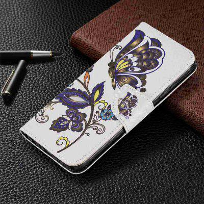 Elephant Painted PU Phone Case voor Xiaomi redmi Note 8