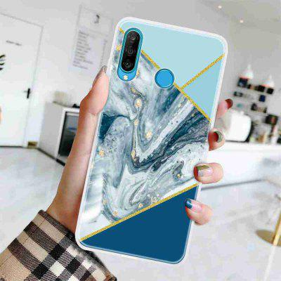 TPU Relief Painted Phone Case for Huawei P30 Lite