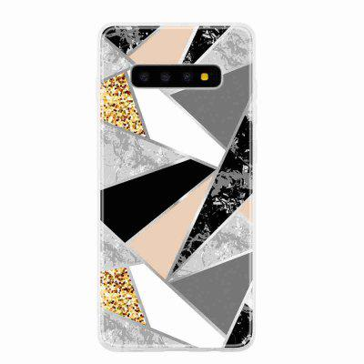 TPU Geometric Marble Painted Phone Case for Samsung Galaxy S10 Plus