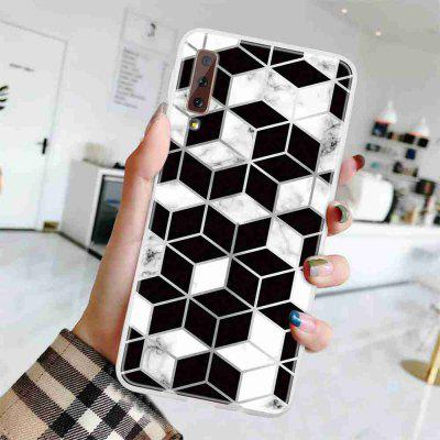 TPU Geometric Marble Painted Phone Case for Samsung Galaxy A750 /A7 2018