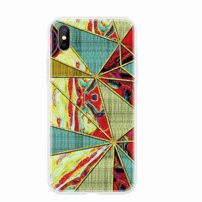 TPU Geometric Marble Painted Phone Case for iPhone Xs Max