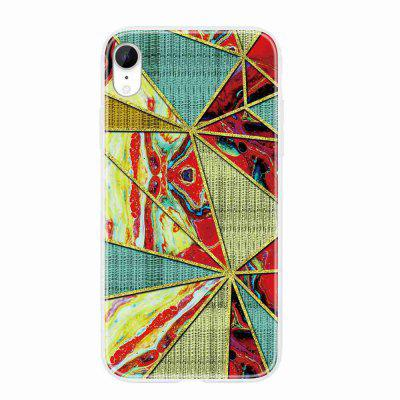 TPU Geometric Marble Painted Phone Case for iPhone XR
