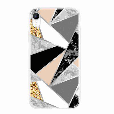 TPU Geometria wyłożona Malowane Phone Case for iPhone XR