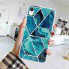 TPU Geometric Marble Painted Phone Case for iPhone XR - MULTI-J