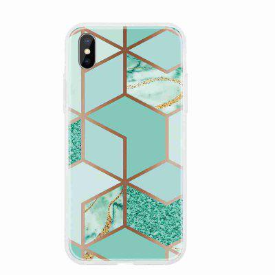 TPU Geometric Marble Painted Phone Case for iPhone X/XS