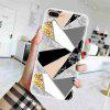TPU Geometric Marble Painted Phone Case for iPhone 7 Plus / 8 Plus - MULTI-B