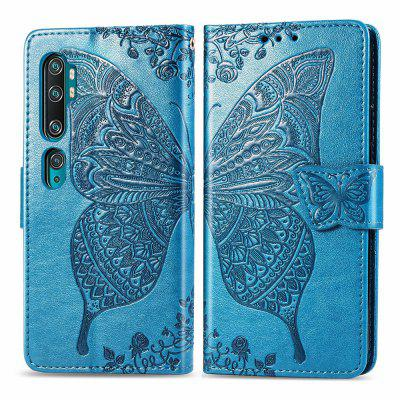 Butterfly Embossing Leather Wallet Phone Case for Xiaomi Mi Note 10 / CC9 Pro