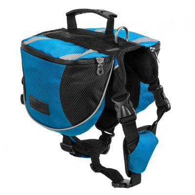 Duurzame Polyester Pet Dog Saddle Bag Travel Camping Trekrugzak