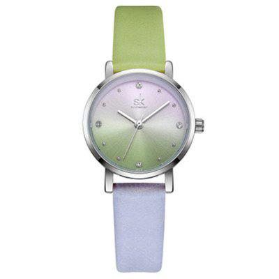SK K8029 Two-Color Gradient Student Watch Fashion Quartz Watch