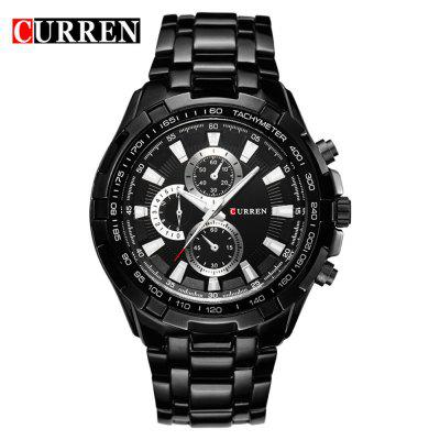 CURREN 8023 moda męska Proste Strap Stainless Steel Quartz Watch