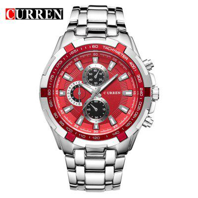 Curren 8023 Men's Fashion Simple roestvrij stalen band quartz horloge