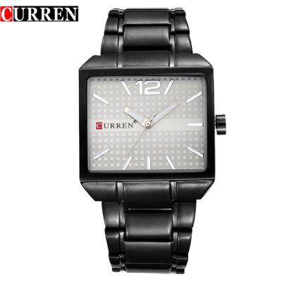CURREN 8132 Square Unisex Unisex Steel Band Quartz Watch