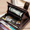 Old Lion Head Layer Leather Coin Purse Anti-Theft Credit Card Bag Wallet - COFFEE