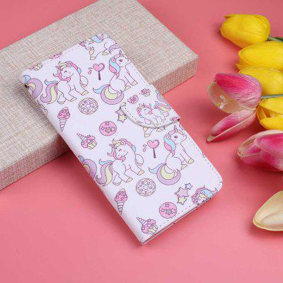 Blue Eyed Cat Painting PU Phone Case for Xiaomi Redmi Note 8 Pro