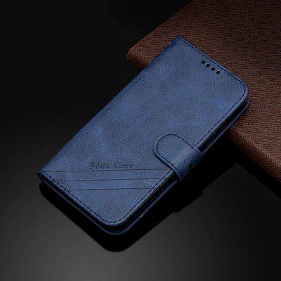Two-Tone Cow Pattern Solid Color PU Phone Case for Xiaomi Redmi Note 8 Pro