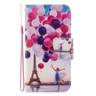 Cross Stitch Painting PU Phone Case for Xiaomi Redmi Note 8
