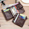 Old Lion Head Layer Cowhide Anti-Theft Credit Card Bag Zipper Bag Wallet - COFFEE