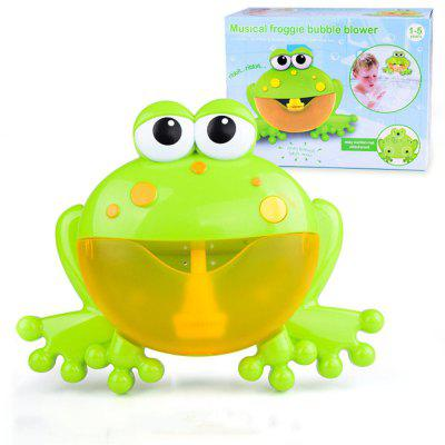 Big Frog baby Bath Toy vany Soap Music Automatic Bubble Blowing Machine