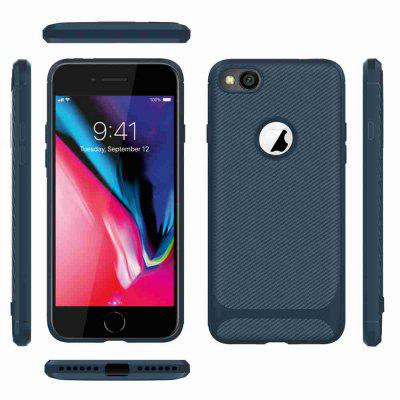 Carbon Fiber TPU Solid Color Telefon tok iPhone 6 / 6S