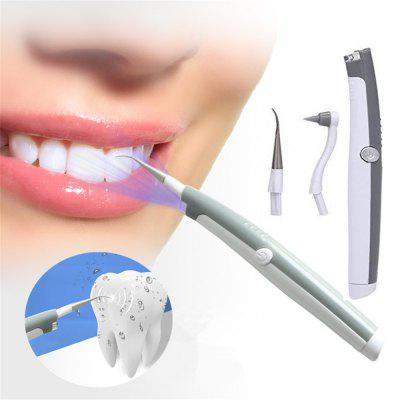 Electric Ultrasonic Scaler Removes High Frequency Vibration and Whitens Teeth - Light Gray