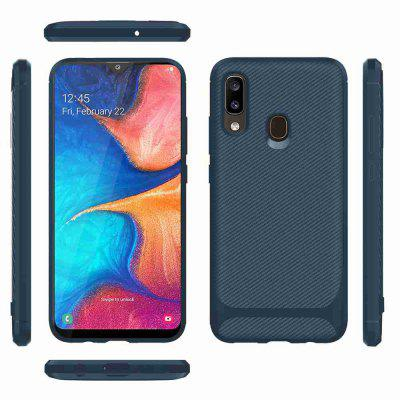 Carbon Fiber TPU Solid Color Phone Case for Samsung Galaxy A40