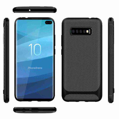 Carbon Fiber TPU Solid Color Phone Case for Samsung Galaxy S10 Plus