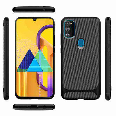 Carbon Fiber TPU Solid Color Phone Case for Samsung Galaxy M30S