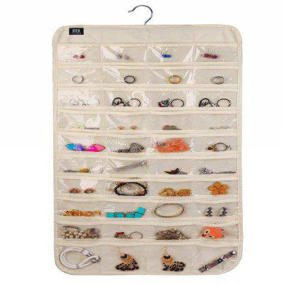 Hanging Jewelry Box A Pocket Storage Box for Jewelry (80 Pockets)
