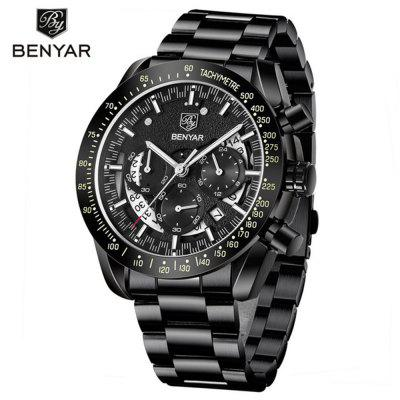 BENYAR 5120 Mannen Luxury Sport waterdicht kwarts horloge Six Hands