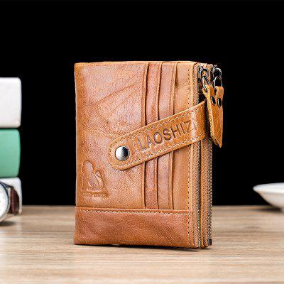 Wallet First Layer Leather Coin Purse Zipper Bag Wallet