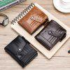 Wallet First Layer Leather Coin Purse Zipper Bag Wallet - COFFEE