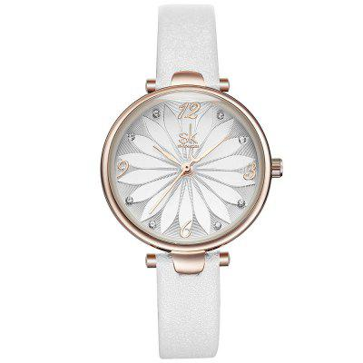 Shengke K8047 Fashion Delicate Flower Pattern Dial Belt quartz horloge