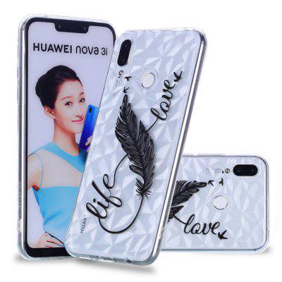 Embossed Varnish Diamond Pattern TPU Phone Case for Huawei  P Smart Plus/Nova 3i