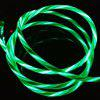1m LED Glow USB typu C Dane Charge Sync Cable for Android Charging Cable - ZIELONY