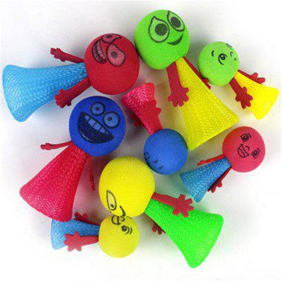 Cartoon Bouncing Elf Funny Squeeze Toys Expression Kids Creative Novelty Toys