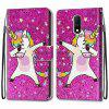 Lily pintura PU Telefone Case for One Plus 7 - MULTI-A
