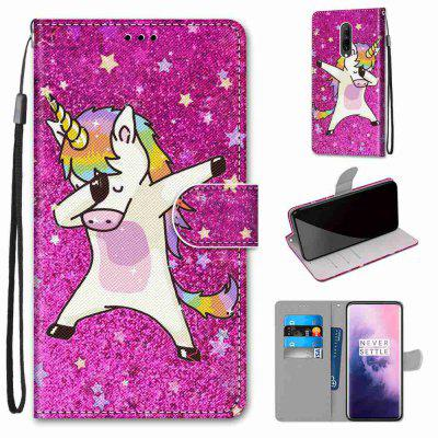 Shy Sky Horse Painting PU Phone Case for One Plus 7 Pro