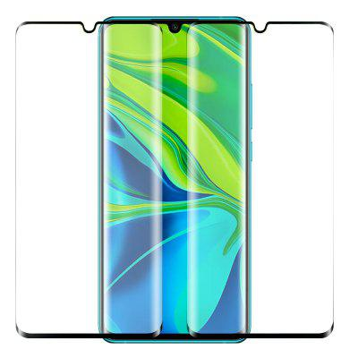 NORTHJO 2PCS 3D Curved Tempered Glass Film for Xiaomi Mi Note 10-BLACK