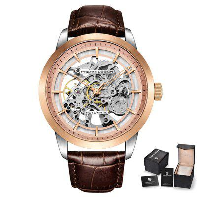 PAGANIDESIGN PD-1638 Automatic MenS Hollow Fashion Waterproof Mechanical Watch