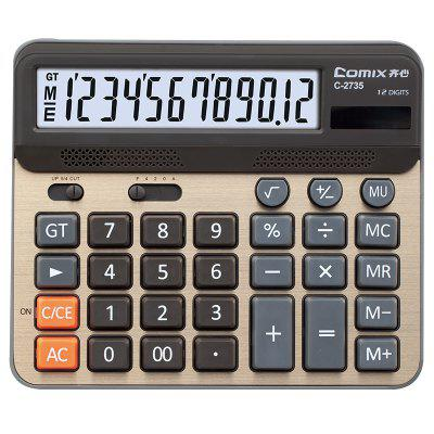Elektronische rekenmachine 12 Digital Display Dual Power Calculator for Business
