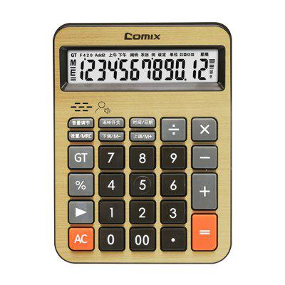 Comix C-8158 Dual Power Office Basic Calculator with Large LCD Display