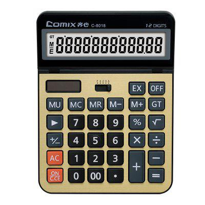 Comix C-8018 Hot Selling Scientific 12 Digits Alarm Electronic Calculator