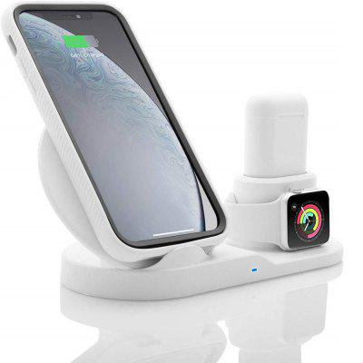 3 in1 Fast Qi Wireless Charger for Smartphone Apple Watch series 4 /Airpods