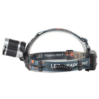 Durable Nice RJ-3001 8000 Lumens LED Headlight 4-MODE Rechargeable Headlight