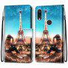 Iron Tower Painting PU Phone Case for Xiaomi Redmi Note 7 Pro / Note 7 - MULTI-H