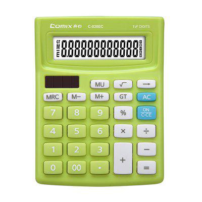 Comix C-838EC Multicolor Voice Electronic Office Desktop Calculator